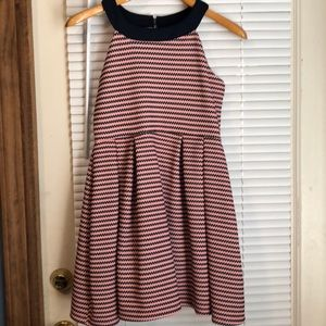 Pink and Navy Girls Size 16 Dress